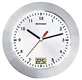 Bresser MyTime Bath Bad Wanduhr mit Temperaturanzeige und Quarz-Uhrwerk mit gebrstetem...