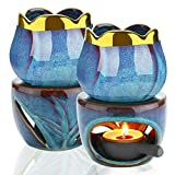 SJTL Duftlampe für ätherische Öle, 180 ml, Keramik-Wachsbrenner, Aromatherapie, Kerze,...