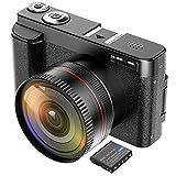 ZORNIK Camcorder, IR Nachtsicht Videokamera HD 1080P 36MP 16X Digital Zoom 3.0 Zoll LCD 270 Grad...