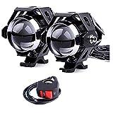 2 * U5 Motorrad Scheinwerfer, 1200LM 6500K Cree LED Scheinwerfer für DRL Scheinwerfer mit...