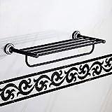 Badezimmer Regal Handtuchhalter Duschhandtuchhalter, Aluminiumlegierung Verbreitert Verdickt Stabil...