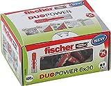 fischer DUOPOWER 6 x 30, Universaldübel, leistungsstarker 2-Komponenten-Dübel, Kunststoffdübel...
