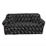 Elastischer Sofabezug Stretch Sofahusse Gedrucktes Muster Couchbezug für Sofa mit Armlehne...
