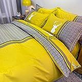 CHOU DAN kühlende sommerdecke,Orange Light Luxus-Baumwolle Vier Sätze...