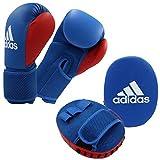 adidas Unisex Jugend Kids Boxing Kit 2 Pratzen-Set Kinder, Blue-red, 8