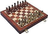 H.Q Klassisches Schach-Set-Geschenk- mit faltenden hölzernen Schachbrett und klassischen...