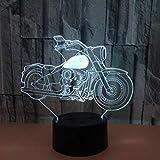 new 3D Illusion Dekoratives Nachtlicht Motorrad Buntes 3D Nachtlicht 3D Touch Illusionslicht Buntes...