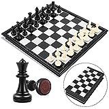 Peradix Schachspiel Magnetischem Einklappbar Schachbrett Schach für Kinder ab 6 Jahre und...