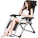 MW Folding Patio Lounge Recliners, Einstellbarer Zero Gravity Lounge Chair Beach Chair, Pool Side...