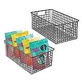 mDesign 2er-Set Allzweckkorb – der flexible Aufbewahrungskorb für die Küche, Vorratskammer etc....
