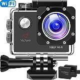 Victure AC400 Action Cam WI-Fi Full HD 1080P wasserdichte Sport Action Kamera 30M Unterwasserkamera...
