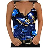 Damen T-Shirts Slim Fit Tshirt Sexy Bluse Cold Shoulder Basic Shirt Drucken Blusen Pailletten...