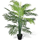 vidaXL Künstliche Phoenix Palme Topf 130cm Kunstpalme Kunstpflanze Kunstbaum