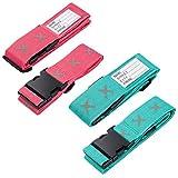 FORMIZON Koffergurt, 4 Stück Gepäckgurt Einstellbare Kofferband Travel Accessories Kofferband...