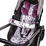 Sitzauflage Kinderwagen Einlage - Buggy Auflage Sitzeinlage für Kindersitz atmungsaktiv universal...