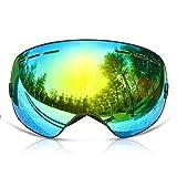 GANZTON Skibrille Snowboard Brille Doppel-Objektiv UV-Schutz Anti-Fog Skibrille Fr Damen Und Herren...
