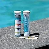 BAYROL Quick Test - 50 x Pool Teststreifen fr pH Wert / Chlor / Alkalinitt / Algizid