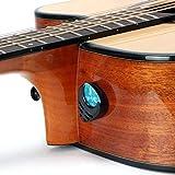 Gitarre Plektrum & Plektrenhalter Gitarren Plektren Stick-on Holder + 10 Pcs Guitar Picks (Black...