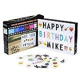 Powerextra A4 Leuchtschilder mit 16 Farbwechsel, Light box mit 265 Buchstaben (95 Schwarzbuchstaben...