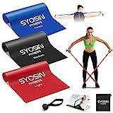 SYOSIN Fitnessbänder Widerstandsbänder, 3 Stärke einstellen, 1.5 m hautfreundliche,...