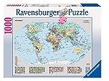 Ravensburger- Puzzle 1000 Pièces Carte du Monde Politique Puzzle Adulte, Néant
