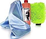 DELLWING Autoshampoo Konzentrat Set - 1L Autoshampoo Konzentrat, Dosierhilfe, Waschhandschuh 'Rasta...