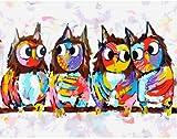 Unbekannt Malen Nach ZahlenWandkunst Leinwand Ölgemälde Digitale abstrakte Eule Tier Bild Home...