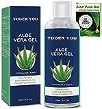 Aloe Vera Gel Bio Aloe Vera Saft Blatt Flüssig Spray Creme Gesicht after Sun Aloe-vera Gel pur Aloe...