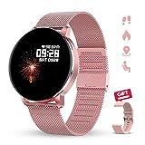GOKOO Smartwatch 1.3 Zoll HD Voller-Touch Screen Damen Herren Intelligent Uhr IP67 Wasserdicht...