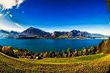 Groes Hochwertiges Holzpuzzle 1000 Stck Mountain Forest Landscape Pattern Spannende Spiele Fr...