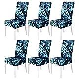 TMILIATRAY Universal Stretch Stuhlhussen 6er Set,Abnehmbare Stuhlbezug für Stuhl Esszimmer,Hussen...