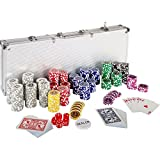 Ultimate Pokerset mit 500 hochwertigen 12 Gramm METALLKERN Laserchips, inkl. 2x Pokerdecks, Alu...