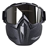 KOBWA Motocross Schutzbrille Maske, Open Face Winddichte Gesicht Maske Schutzbrillen fr Motocross...