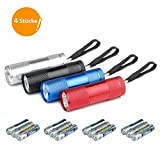 JTENG Mini LED Taschenlampe Mit 12 Batterien, LED Handlampe Aluminium Taschenlampe mit...