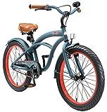 BIKESTAR Kinderfahrrad für Jungen ab 6-7 Jahre | 20 Zoll Kinderrad Cruiser | Fahrrad für Kinder...