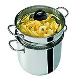 Barazzoni 419048022Pasta-Topf, Kochen und Zusehen, Spaghetti-Topf, Deckel mit Korb, Made in Italy,...
