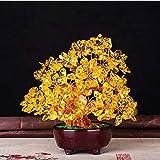 Ornament Geschenk Kristall Geld-Baum Bonsai-Art-Haus für Reichtum Feng Shui Tischdekoration...