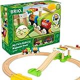 BRIO World 33727 Mein erstes BRIO Bahn Spiel Set  Zug mit Waggon, Schienen & Hngebrcke fr...