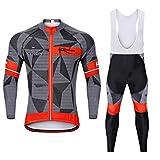 XW MTB Radtrikot Set Triathlon Radtrikot, MTB Radtrikot Langarm Shirt + Radhose Herren