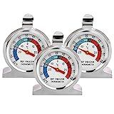 Thlevel 3 PCS Mini Thermometer Temperatur für Kühlschrank Gefrierschrank aus Edelstahl mit...