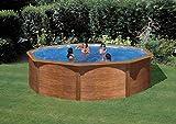Stahlwandbecken Steely de luxe Wood 3,6x1,2m; SET
