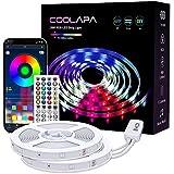 20M LED Strip, COOLAPA LED Streifen RGB 5050, LED Stripes mit 40 Tasten IR-Fernbedienung APP...