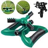 Homemaxs Rasensprenger Garten Sprinkler 3 Arm mit Auswirkungssprinkler, Automatische 360 Grad...