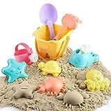 BeebeeRun Strandspielzeug Set für Kinder, Kleinkinder Sandspielzeug in wiederverwendbarer...