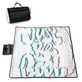 Dataqe Picknick-Matte für Kinder, 144,8 x 149,9 cm, wasserdichte Rückseite, für Picknick,...