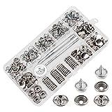 AIEX 150 Stück Druckknöpfe Set, Durable Edelstahl Muttern und Bolzen Set für Möbel Segeltuch...