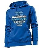 love-all-my-shirts Ich Bin Schalker 4619 Fussball Frauen Damen Hoodie Pulli Kapuzen Pullover Fan...