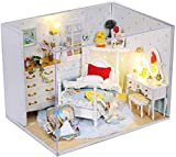 Dufeng Hölzerne Block 3D Holz DIY Hütte Handmade Doll House Mini Princess Hut Serie...