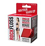 RockTape Unisex-Adult Rockfloss 2' Kompression Muscle Recovery Tack Mobilität Band, rot, 2' Wide