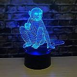 Neuartige chinesische Tierkreiswildtier-Karikatur 3D-LED-Tischlampe Schlafzimmer Hauptdekoration...